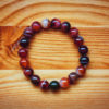 beautiful bracelet on the arm of the Royal agate stone