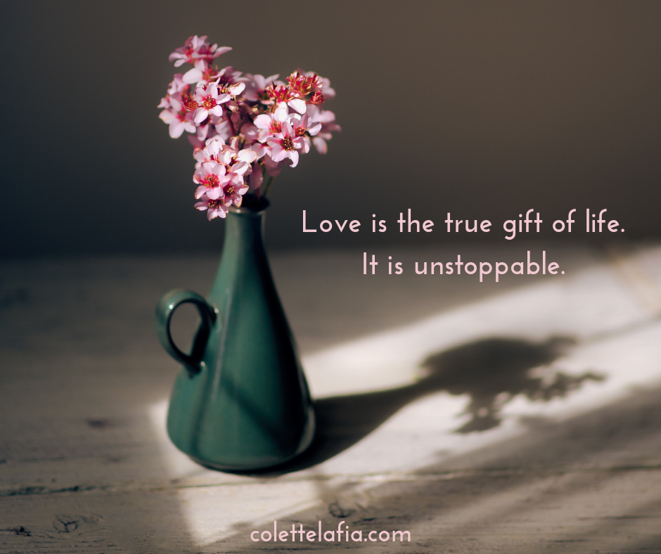 Love is the true gift of life.It is unstoppable.