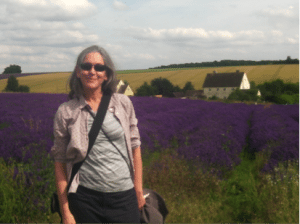 Colette at a Lavender Farm, England, 2014